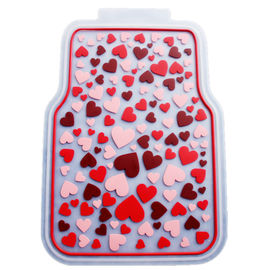 Rubber Latex Pure Material Universal Car Mat With Pink Lovely Pattern